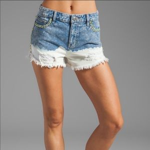 Free People Dip Dye Denim Cutoff Shorts